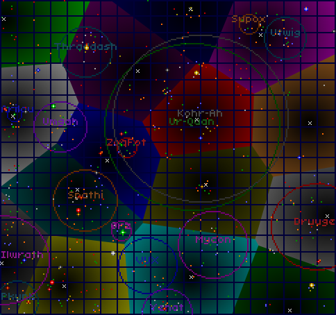 HyperSpace Map with QuasiSpace portal distances