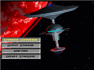 The Earth Starbase menu